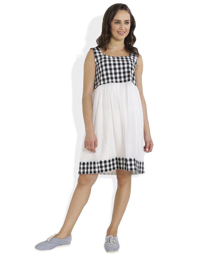 Summer Barn - Gingham Checks Dress - Front View