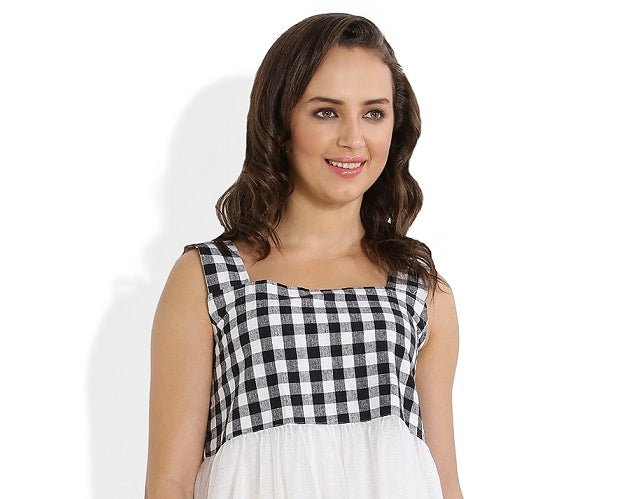 Summer Barn - Gingham Checks Dress - Fabric View