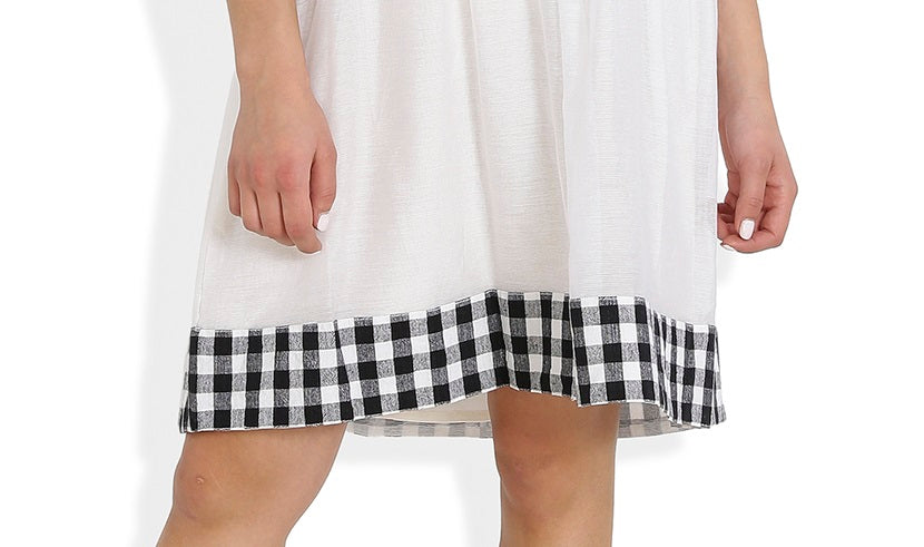 Summer Barn - Gingham Checks Dress - Hemline