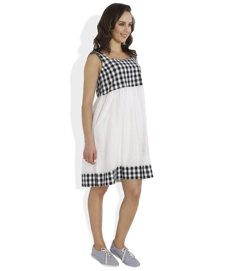 Summer Barn - Gingham Checks Dress - Right View