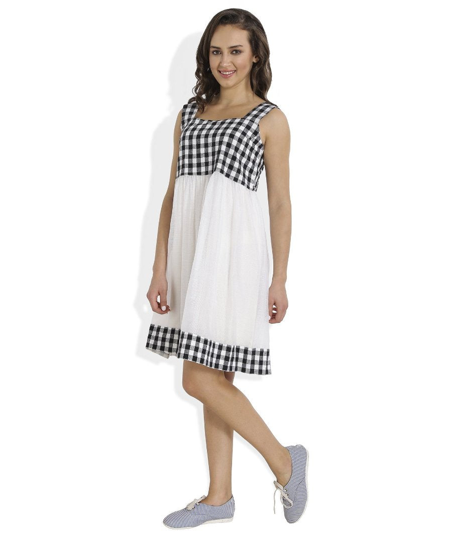 Summer Barn - Gingham Checks Dress - Left View
