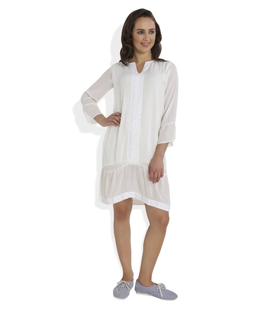 Summer Barn - Crinkle Cotton Beach Dress - Frontal View