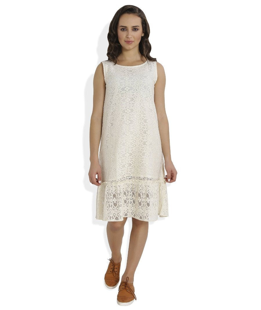 Summer Barn - Crochet Drop Waist Beach Dress - Front View