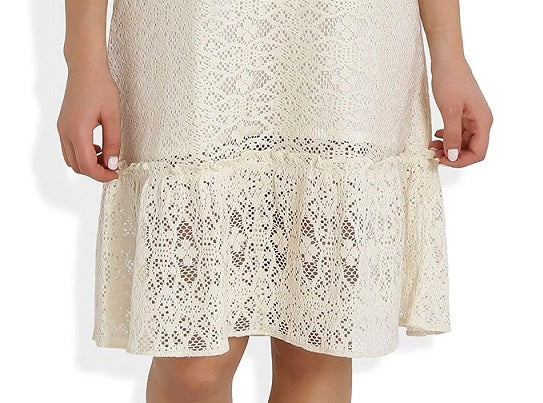 Summer Barn - Crochet Drop Waist Beach Dress - Fabric view