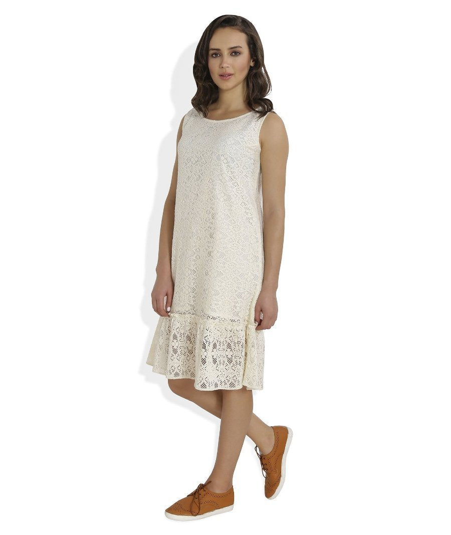 Summer Barn - Crochet Drop Waist Beach Dress - Left View