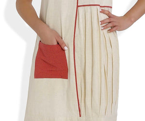 Summer Barn - The Straight and Pleated Handloom Dress - Pocket View