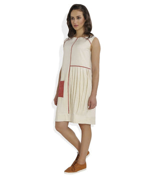 Summer Barn - The Straight and Pleated Handloom Dress - Left View