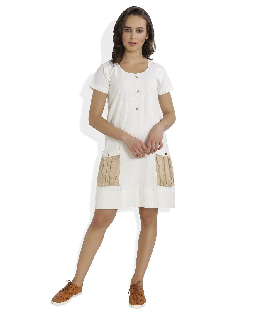 Summer Barn - Jute Pocket Handloom Dress - Front View