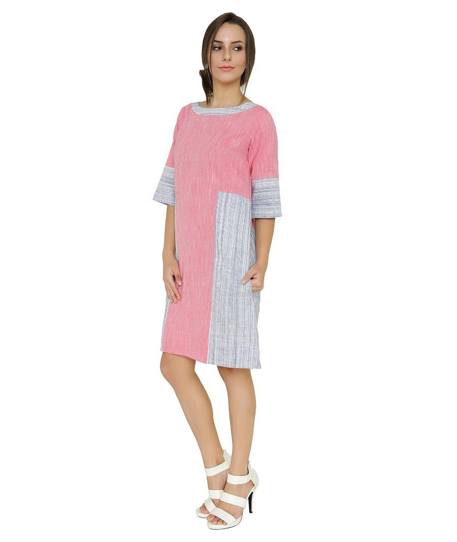 Summer Barn - Ikat and Stripes Handloom Summer Dress