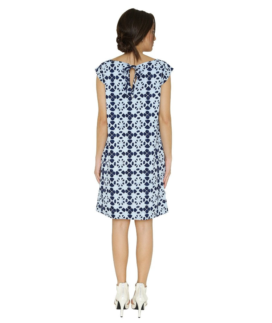 Summer Barn - Twin Indigo Hand Block Printed Summer Dress