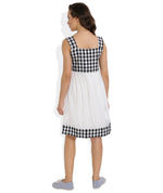 SB03 - Gingham Checks Handloom Dress