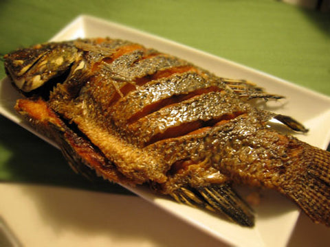 Deep-fried Tilapia Fish
