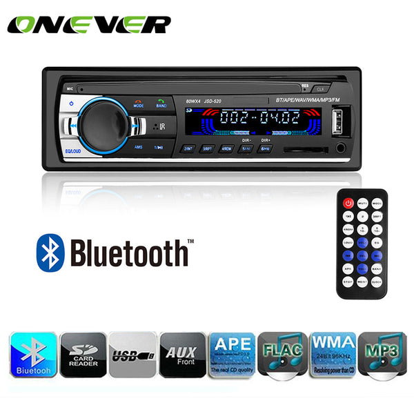 Onever Autoradio Car Radio 12V Bluetooth Car Stereo In-dash 1 Din FM Aux Input Receiver SD USB MP3 MMC WMA Car Radio Player