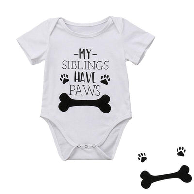 My Siblings Have Paws Onesie Bodysuit - BubsKicks