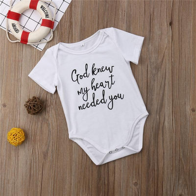God Knew My Heart Needed You Onesie Bodysuit - BubsKicks