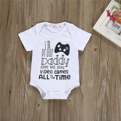 Daddy Doesn't Play Video Games Onesie Bodysuit - BubsKicks