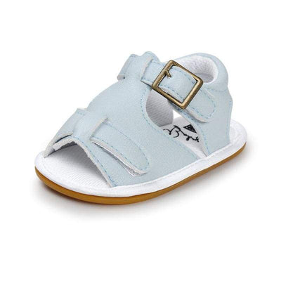 Moccasin Sandals - Light Blue - BubsKicks