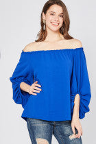 Royal Blue Off Shoulder Top