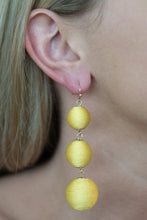 Yellow Ball Dangle Earrings
