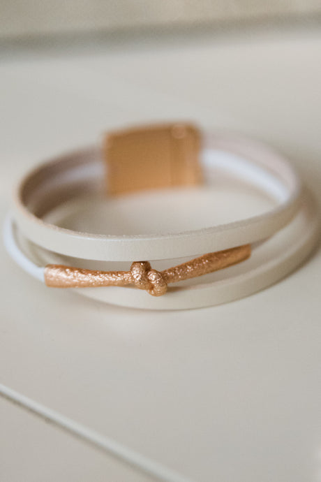 Off White Wrap Bracelet