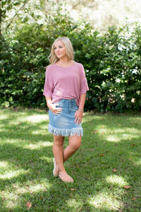 Rose Ruffle Sleeve Top