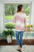 Mauve Multi Stripe Top