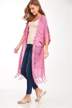 Rose Knit Long Body Cardigan