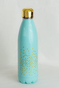 Teal Confetti Stainless Steel Bottle