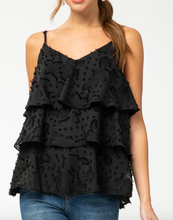 Black Textured Lace Tank