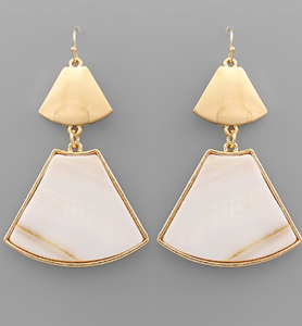 Ivory/Gold Earrings