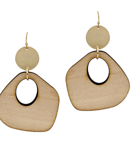 Natural Gradual Wood Earrings