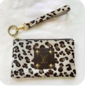 White Leopard Authentic LV Patch