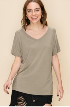 Smoke Green Casual Top