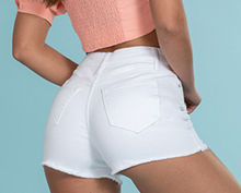 White High Rise Shorts