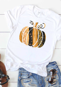 Leopard Graphic Pumpkin Tee