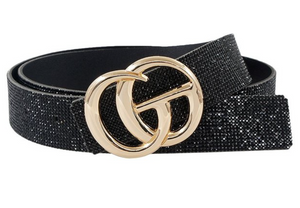 Black Crystal Coated Belt