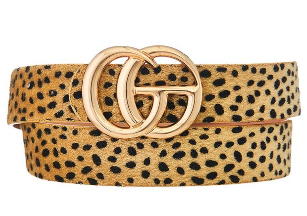 Beige Leopard Fur Belt (Bigger GC)