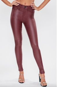 Burgundy Pleather Pants