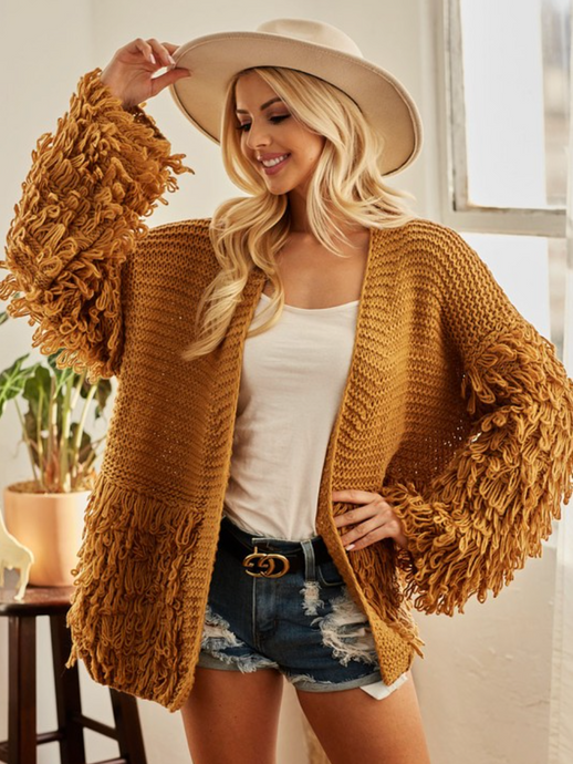Mustard Knitted Cardigan