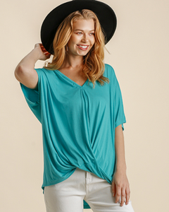 Turquoise Knotted Top