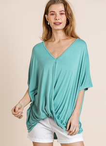 Dusty Mint Knotted Top