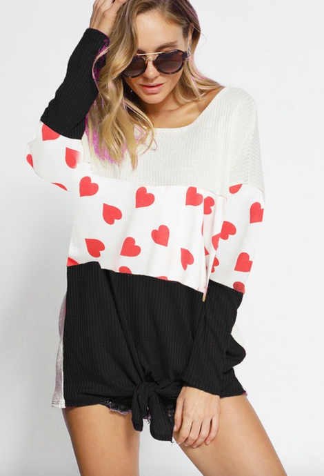 Color Block V-Day Top