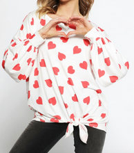 All Over Heart Print Top