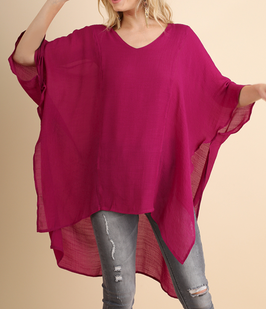 Berry V-Neck Caftan