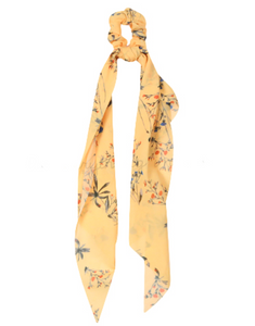 Yellow Floral Hair Tie