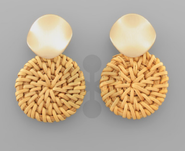 Natural/Gold earrings
