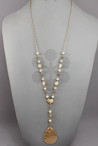 Worn Gold Bead Necklace