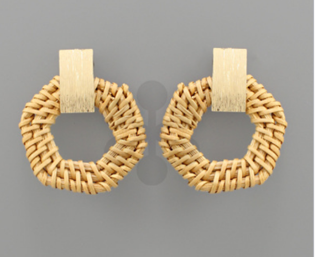 Natural/Worn Gold Earrings