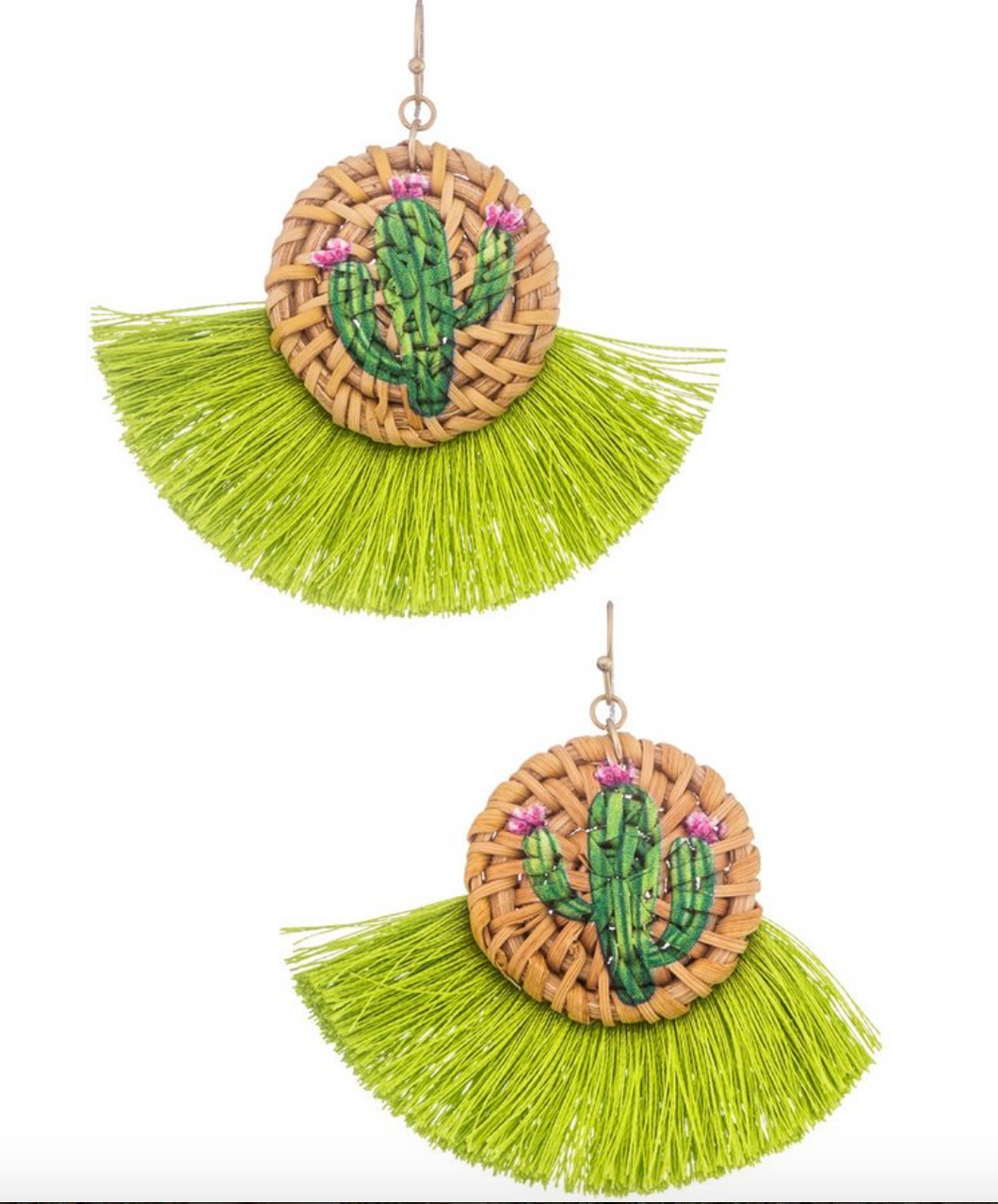 Cactus Tassel Earrings