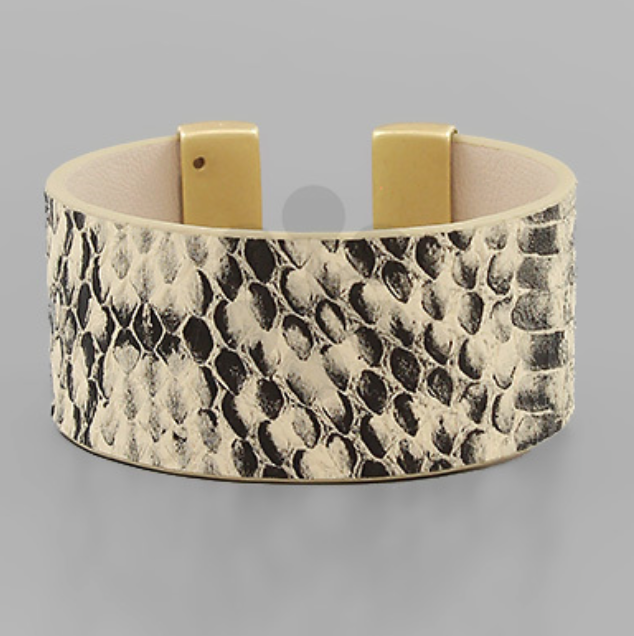 Animal Skin Leather Cuff